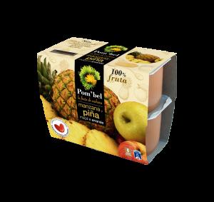 Pack de compotas de manzana y piña pom'bel
