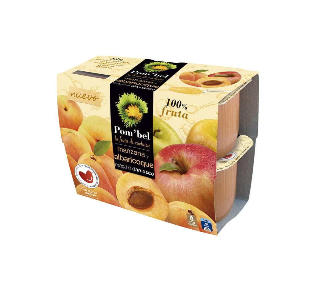 Pack de compotas de manzana y albaricoque pom'bel