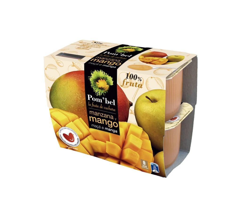 Pack de compotas de manzana y mango pom'bel