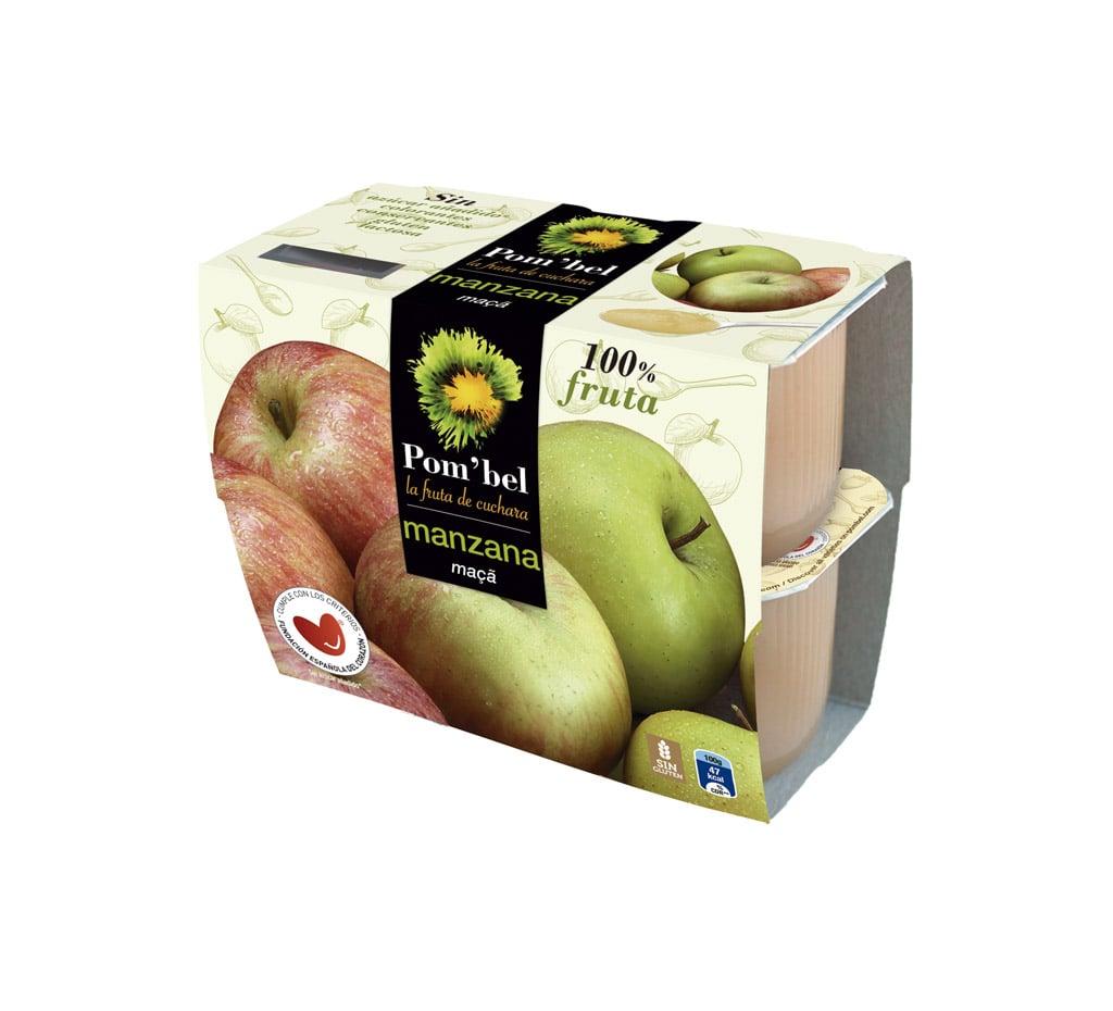 Pack de compotas de manzana pom'bel
