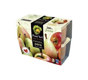 Pack de compotas de manzana y pera pom'bel
